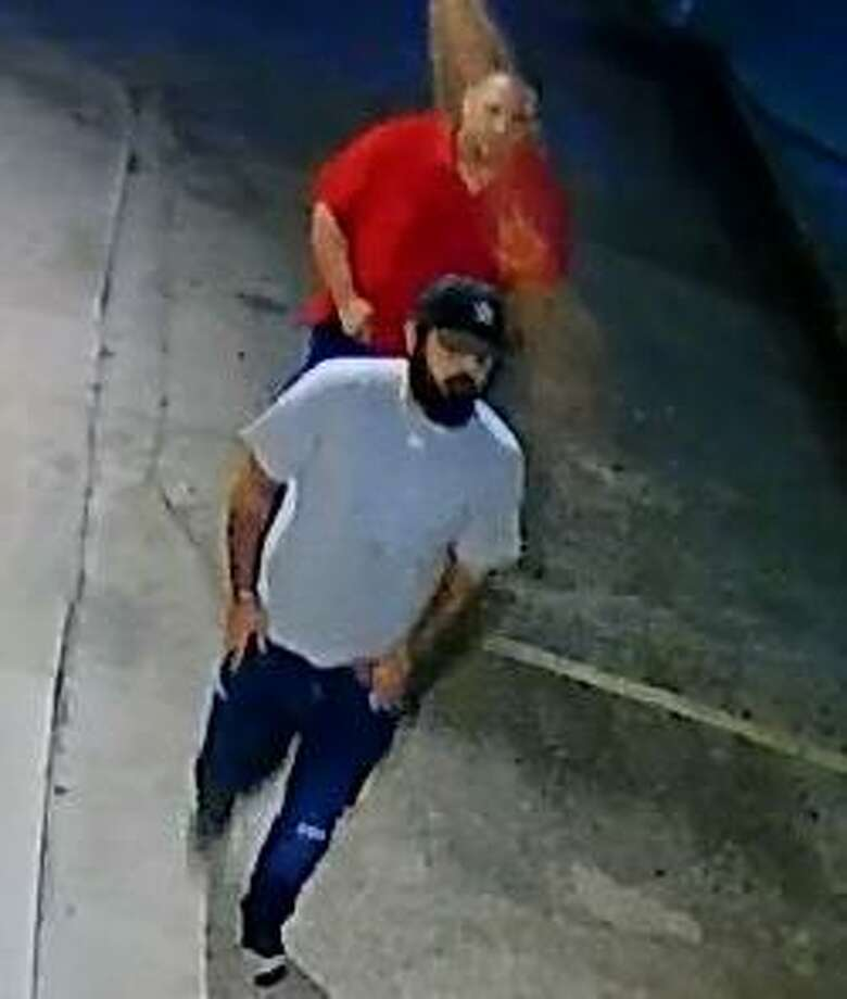 San Antonio police and crime stoppers are offering an award for the identification of two men they said robbed a person at gunpoint on the city's North Side.  Photo: SAPD