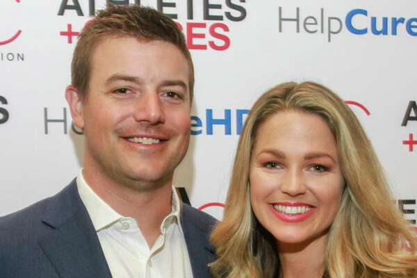 EMBARGOED FOR SOCIETY REPORTER UNTIL AUGUST 25 Allie LaForce and Joe Smith at the Huntington's Disease luncheon at River Oaks Country Club on August 22, 2019.