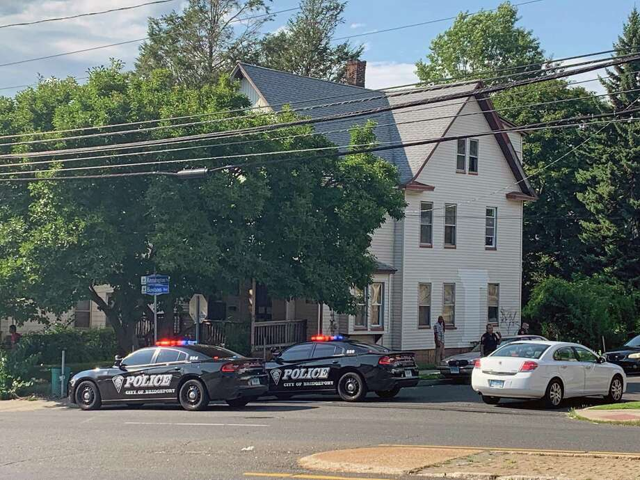 Police units block off the intersection of Boston Avenue and Remington Street in Bridgeport, Conn., on Thursday, Aug. 22, 2019, after a male victim was shot on Remington Street around 3:30 p.m. Photo: Hearst Connecticut Media / Tara O'Neill