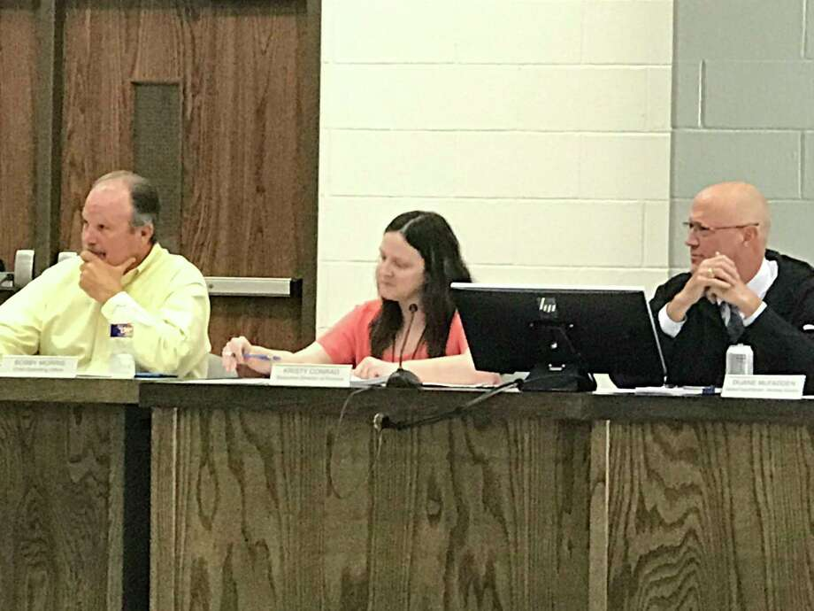 The Montgomery Independent School District's Board of Trustees passed the lower tax rate Tuesday during the regular meeting held at a new location, the MISD Education Support Center, at 20774 Eva St. Photo: Meagan Ellsworth / Meagan Ellsworth