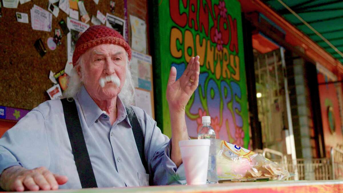 This image released by Sony Pictures Classics shows musician David Crosby in a scene from the documentary