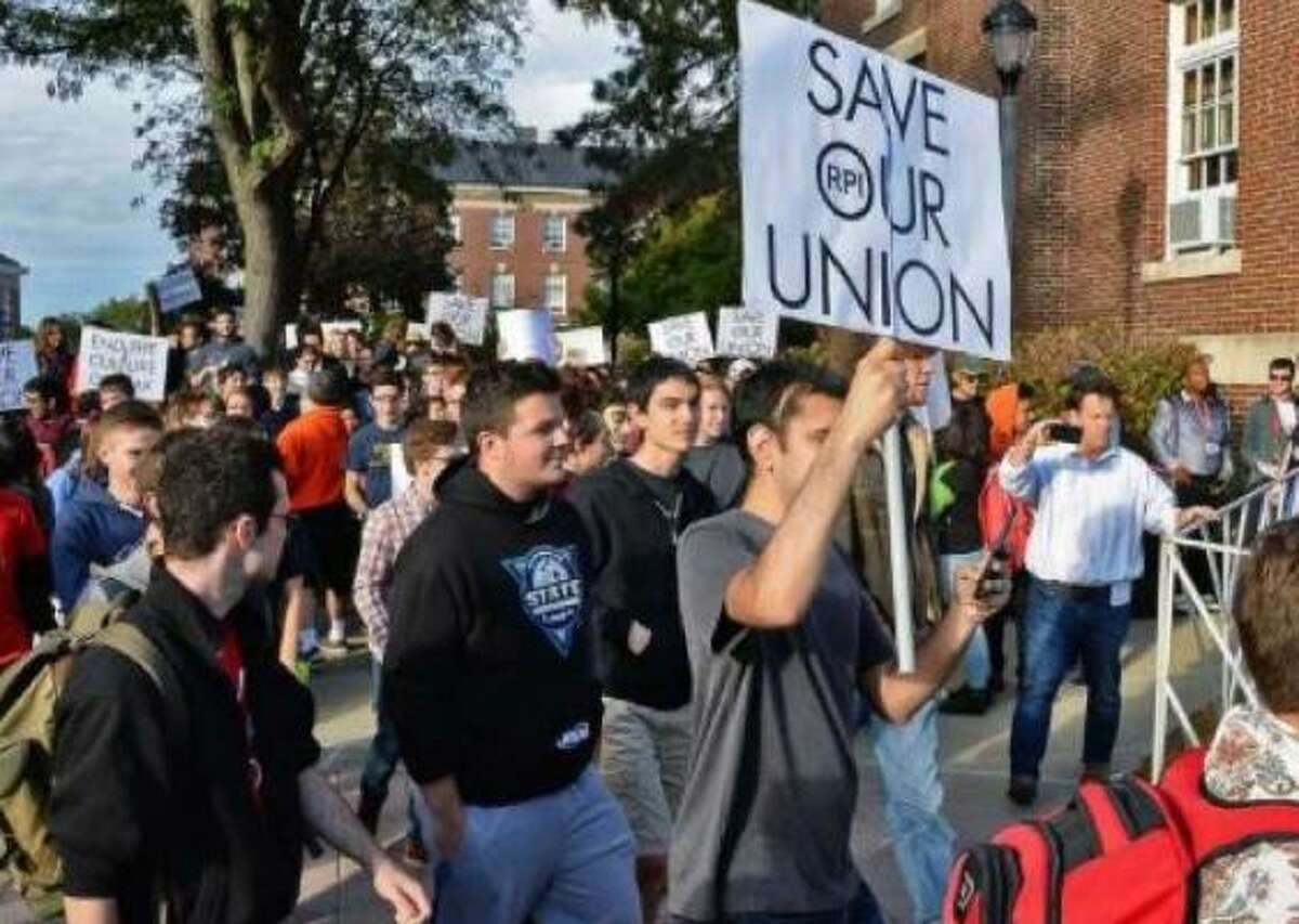 RPI students protested regarding control over their student union in recent years. Alumni have also battled the administration on a number of fronts.