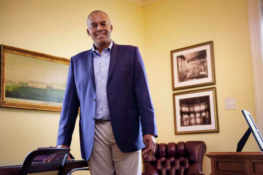 Union College President David R. Harris in his office at the college on Monday, August 19, 2019, in Schenectady, N.Y.   (Paul Buckowski/Times Union) Photo: Paul Buckowski / (Paul Buckowski/Times Union)