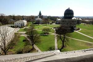 A view of the Union College campus on Thursday April 25, 2013 in Schenectady, N.Y. (Michael P. Farrell/Times Union)