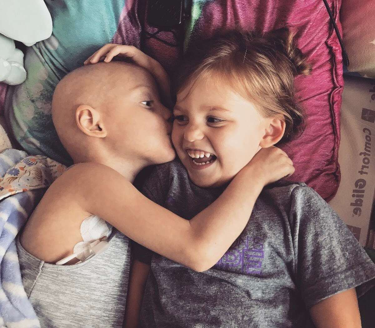 After two failed bone marrow haplo transplants, including one from her twin sister Harper (right), Addyson's doctors said she will need a third transplant as soon as possible.