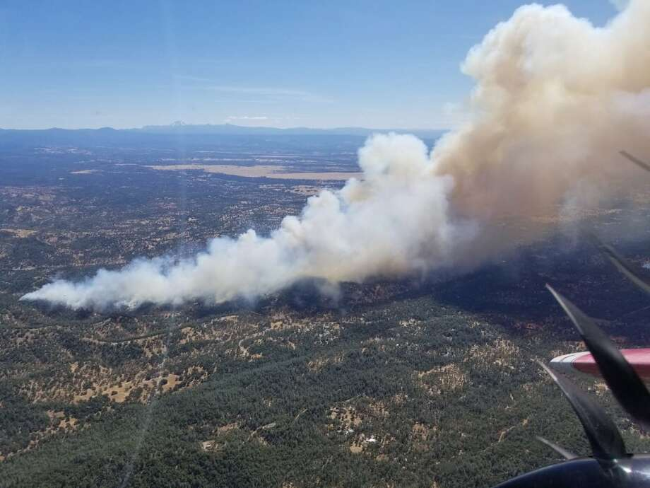 The Mountain Fire, as seen from above. Photo: Cal Fire