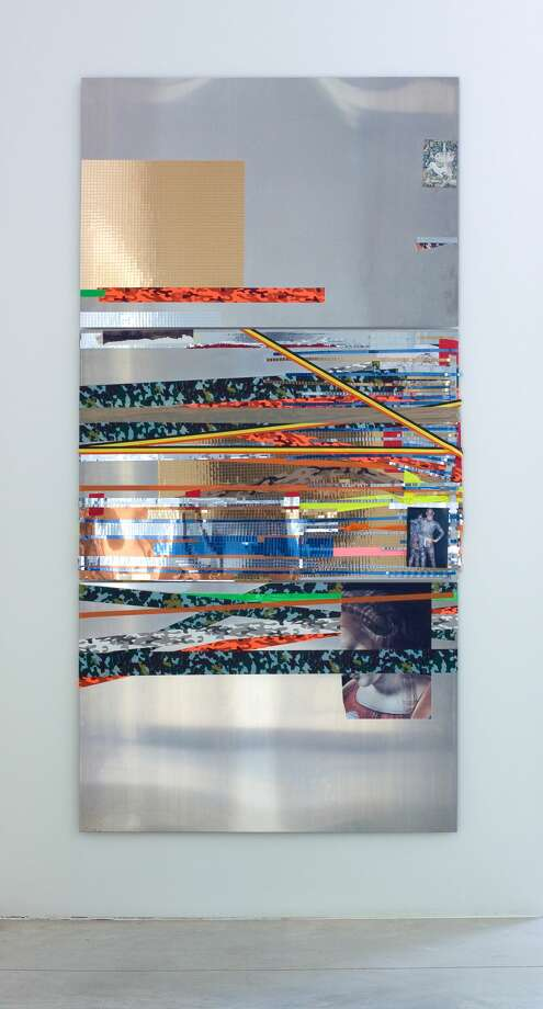 Isa Genzken Untitled, 2004 Aluminum, adhesive tape and collage Each panel: 31.5-feet-47.24 inches Photo: Isa Genzken