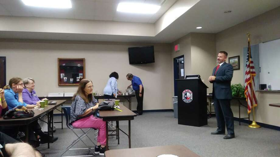 Corbin Rowe, member of the United States Secret Service with 22 years of experience, was the guest speaker for the Houston Northwest Chamber of Commerce Public Safety Forum on Aug. 22, 2019. Photo: Chevall Pryce