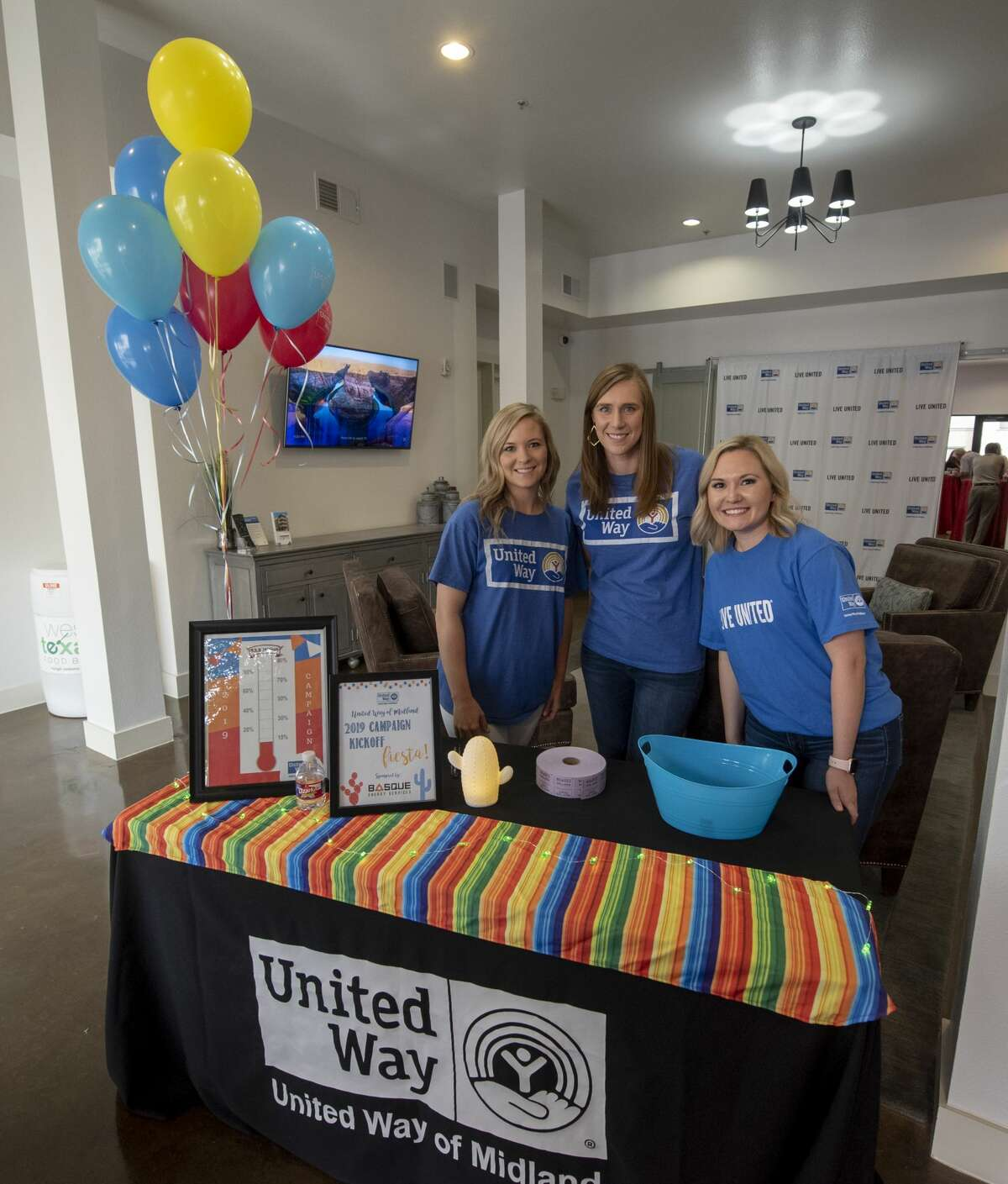 The United Way of Midland held its 2019 campaign kickoff Thursday, August 22, 2019, at the Wall Street Lofts.