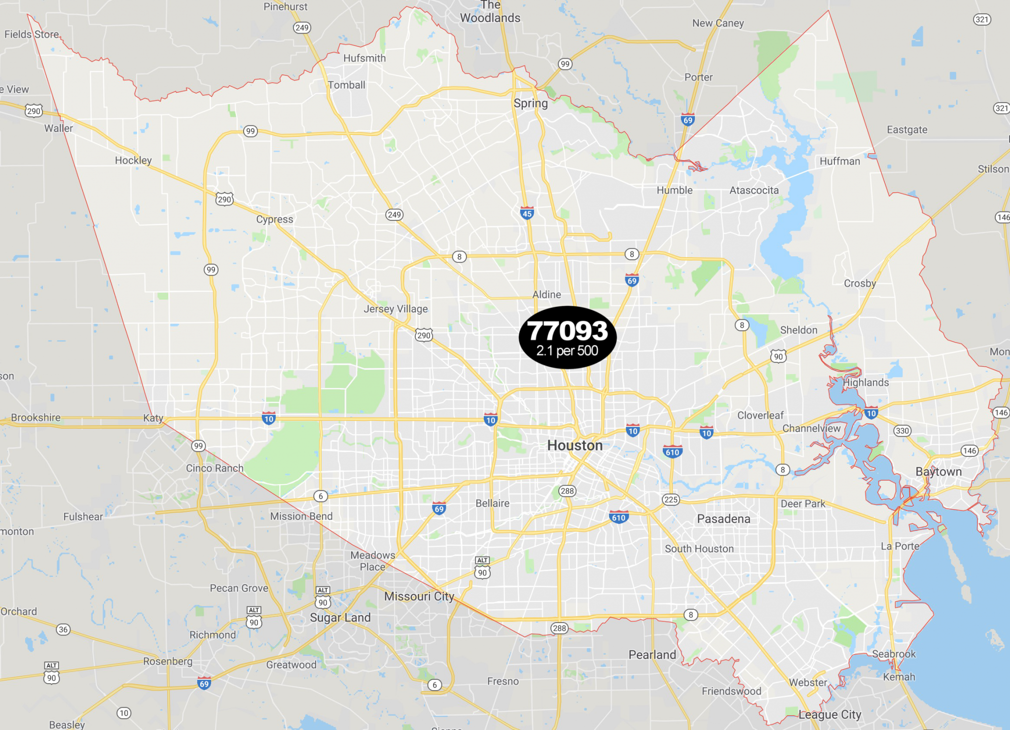 These Harris County ZIP codes have the highest rates of sex offenders