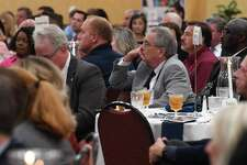 Area professionals listen to Texas lawmakers during Thursday's Legislative Luncheon at the Elegante Hotel. Hosted by the Greater Beaumont Chamber of Commerce, the event was designed to give local leaders and business people an opportunity to learn more about the recently finished legislative session. Photo taken Thursday, 8/22/19