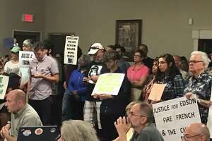 Residents in Troy outragedby the city's response to an internal affairs investigation that found the sergeant who killed Edson Thevenin and used unjustifyable deadly force and lied to investigators flooded the city council meeting on Thursday, Aug. 22, 2019.