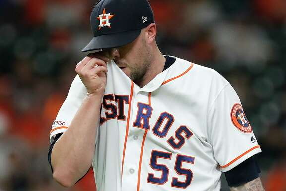 After his most recent appearance against the Tigers on Tuesday, Ryan Pressly complained of persistent discomfort in his knee.