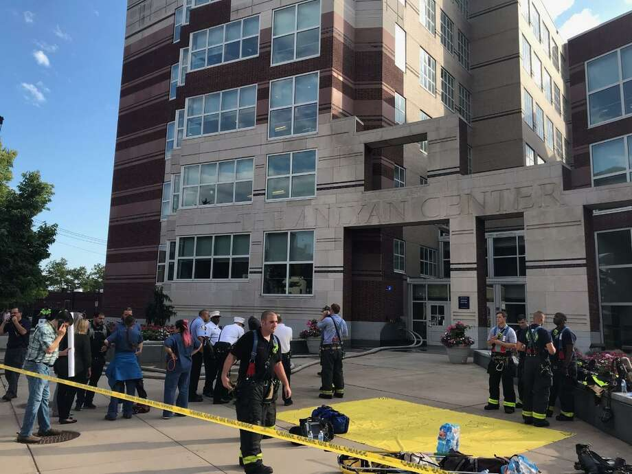 The fire at the center, at 300 Cedar St. near the corner of Congress Avenue, happened in the lower level where animal testing takes place, officials said. Photo: Contributed Photo
