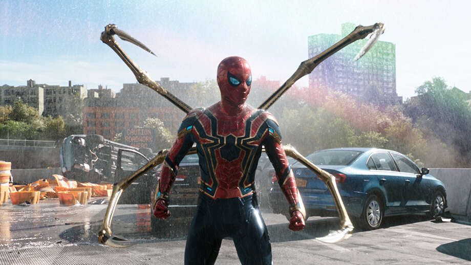 """The """"Worldwide Engineering Brigade,"""" or WEB, will host Disneyland's first Spider Man-themed ride-through attraction— it involves a """"web slinger"""" vehicle that allows guests to experience what it would be like to have their own superpowers as they help Spider-Man collect devious spider-bots running around. Photo: Sony/Columbia/Marvel/Kobal/Shutt / Copyright (c) 2019 Shutterstock. No use without permission."""