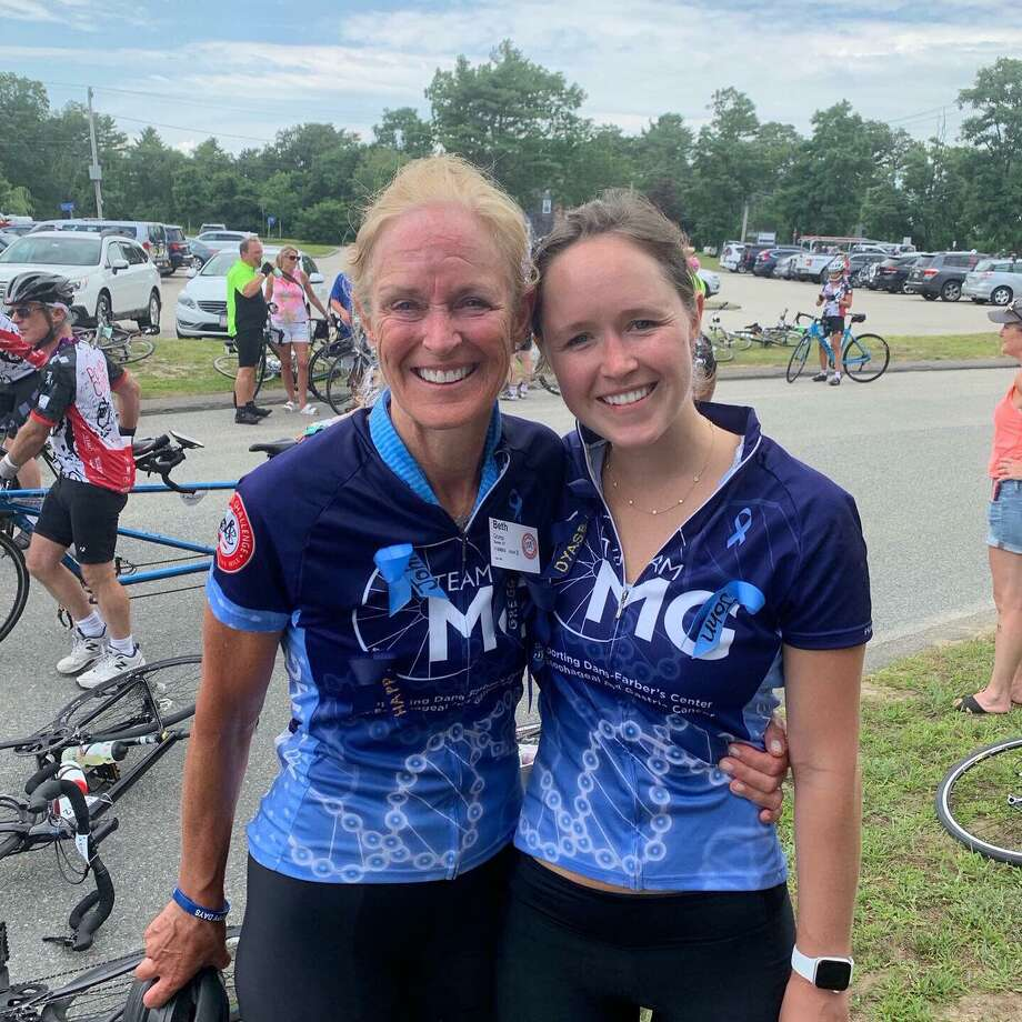 Beth Crump and her daughter Emily riding in the Pan-Mass Challenge Photo: Contributed Photo / Connecticut Post