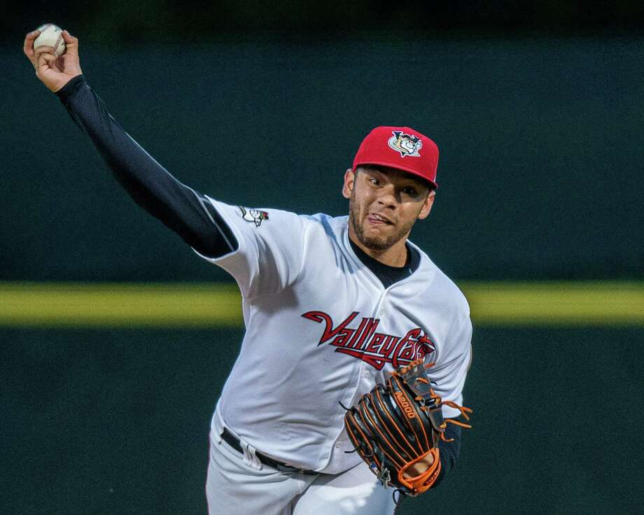 Tri-City ValleyCats starting pitcher Angel Macuare against the Hudson Valley Renegades at the Joseph L. Bruno Stadium in Troy, NY on Thursday, Aug. 22, 2019 (Jim Franco/Special to the Times Union.) Photo: James Franco / 40047206A