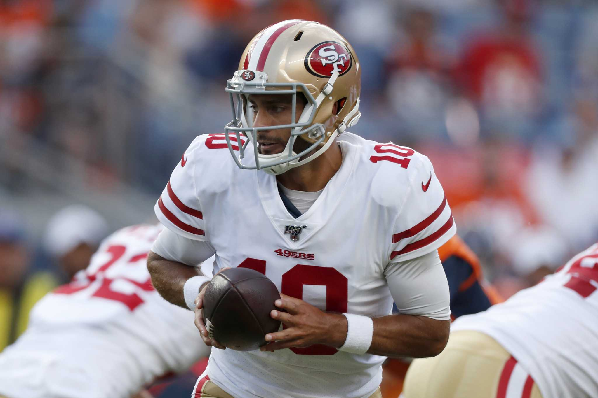 77dbbf70 49ers lay out plan for Jimmy Garoppolo's playing time in final two ...