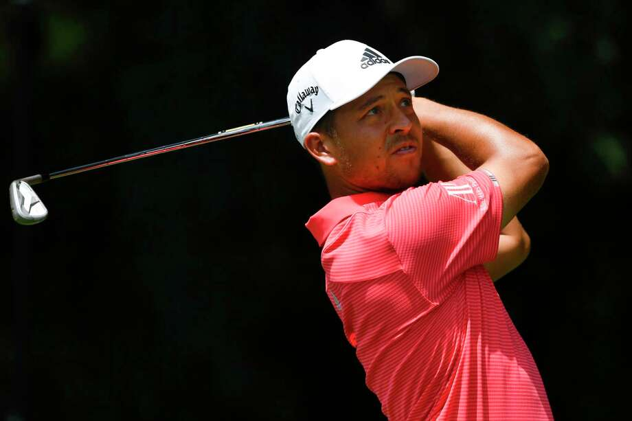Xander Schauffele tees off on the second hole during the first round of the Tour Championship golf tournament Thursday, Aug. 22, 2019, in Atlanta. (AP Photo/John Amis) Photo: John Amis / Copyright 2019 The Associated Press. All rights reserved