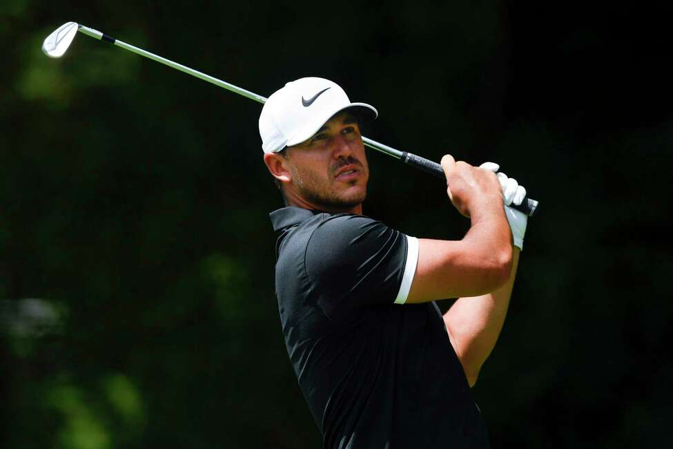Brooks Koepka tees off to the second hole during the first round of the Tour Championship golf tournament Thursday, Aug. 22, 2019, in Atlanta. (AP Photo/John Amis)