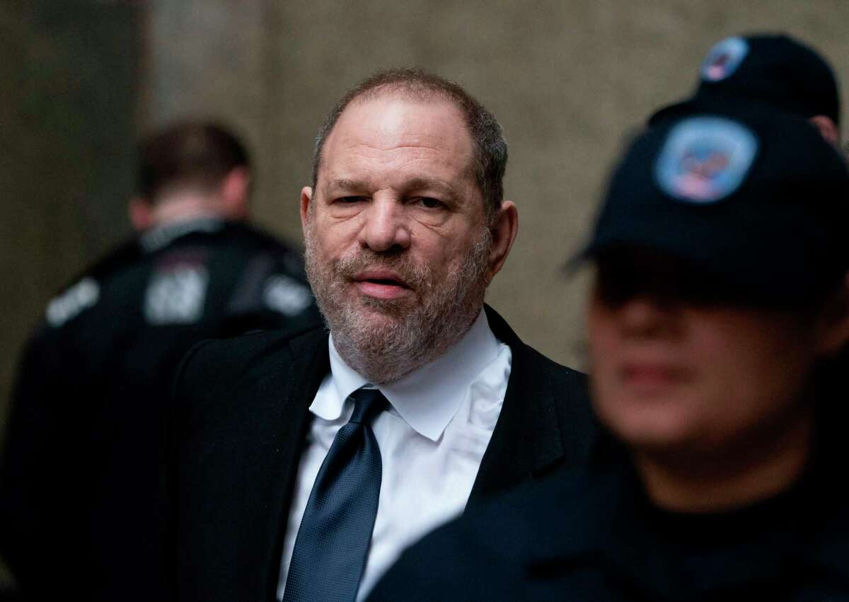 (FILES) In this file photo taken on April 26, 2019 disgraced Hollywood mogul Harvey Weinstein leaves the State Supreme Court in New York, after a break in a pre-trial hearing over sexual assault charges. - Fallen movie mogul Harvey Weinstein, who is awaiting trial on two sexual assault charges, will return to court next week to hear a new indictment against him, prosecutors said on August 22, 2019. Weinstein, 67, will appear in a New York state court on Monday, said a spokesman for the Manhattan District Attorney, declining to comment on the details of the indictment. (Photo by Don Emmert / AFP)DON EMMERT/AFP/Getty Images