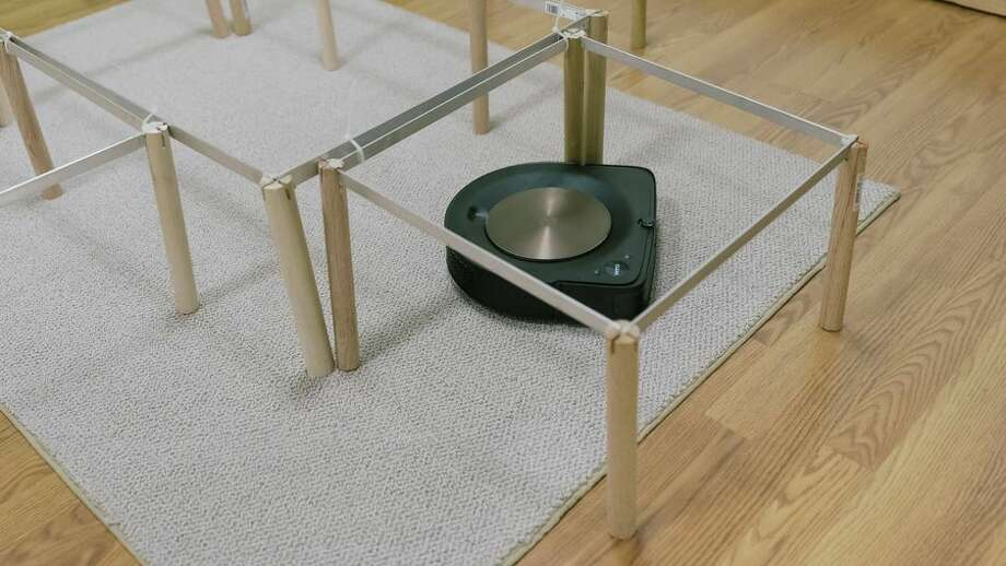 Obstacles in out test room mimic what robot vacuums run into in the real world. Photo: Tyler Lizenby/CNET
