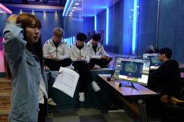 Students pursue undergraduate degrees in esports at Chunnam Techno University in Seoul. In the classroom, students not only play games, but also learn gaming strategies and ethics.
