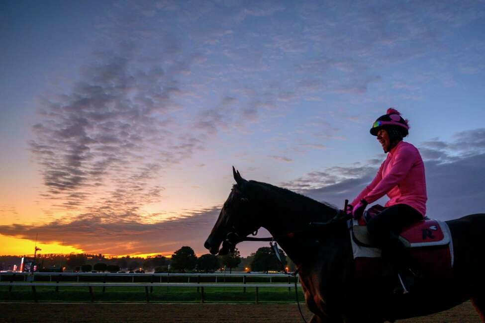 Morning sun brings a beautiful hue to the sky during morning workouts at the Saratoga Race Course Friday Aug. 23, 2019 in Saratoga Springs, N.Y. Photo special to the Times Union by Skip Dickstein