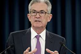 Jerome Powell, chairman of the Federal Reserve, speaks during a news conference following a Federal Open Market Committee meeting in Washington, D.C., on June 19, 2019.