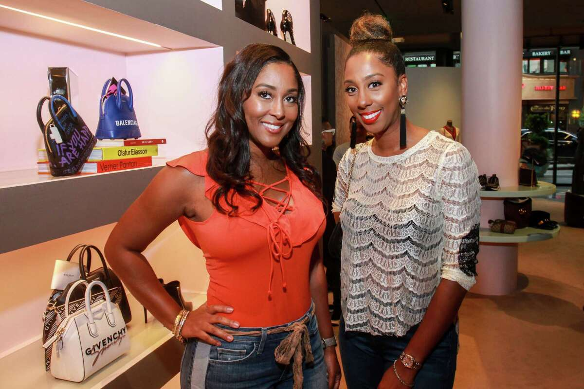 Venecia Dutton, left, and Shenequa Animashaun at the Webster where James Harden hosted family and friends to kick off his annual James Harden Weekend Celebrations on August 22, 2019.