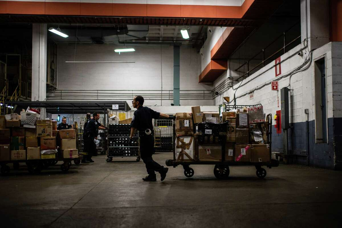 Suspicious mail is inspected by CBP at John F. Kennedy International Airport's mail facility in New York.