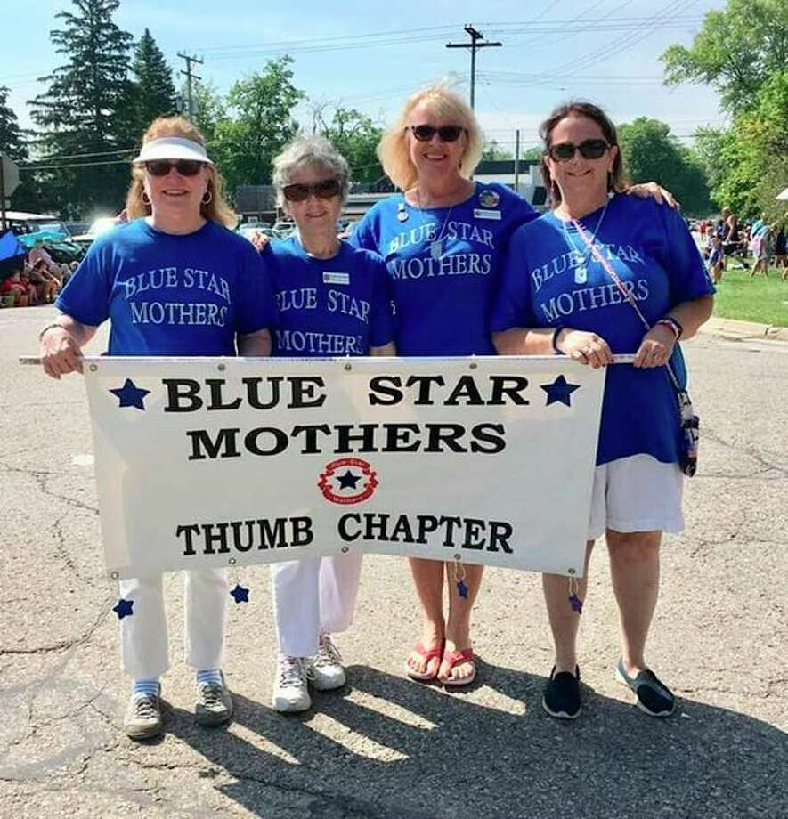 Blue Star Mothers Thumb Chapter 178 marched in the July Cass City Freedom Festival Parade. Pictured are Pat Rogers, Grace Rosenthal, Deb Robinson and Sherry Kramer. (Submitted Photo)