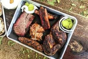 Brisket, ribs. pulled pork, sausage and chicken at Brett's Backyard Bar-B-Que in Rockdale