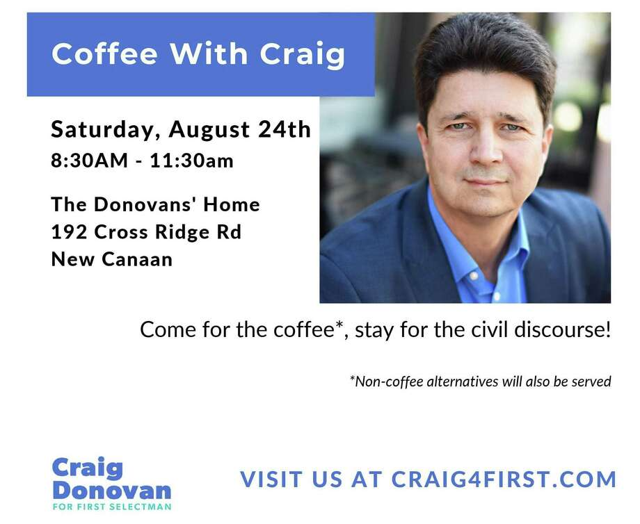 Democrat Craig Donovan, a candidate for New Canaan first selectman will be having an event at his family's 192 Cross Ridge Road home in New Canaan, Connecticut tomorrow, Saturday, Aug. 24, 2019. Craig Donovan campaign for New Canaan first selectman / Contributed photo Photo: Craig Donovan Campaign For New Canaan First Selectman / Contributed Photo /