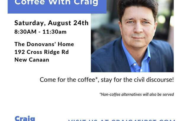 Democrat Craig Donovan, a candidate for New Canaan first selectman will be having an event at his family's 192 Cross Ridge Road home in New Canaan, Connecticut tomorrow, Saturday, Aug. 24, 2019. Craig Donovan campaign for New Canaan first selectman / Contributed photo