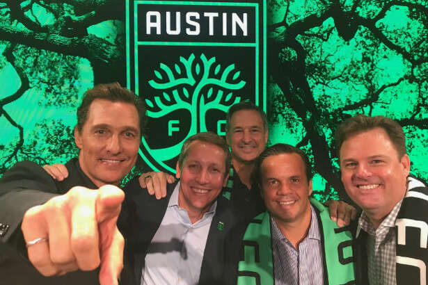 Austin FC owners Matthew McConaughey, Eddie Margain, Marius Haas and Anthony Precourt/MLS