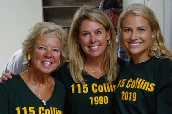 Three generations of women from the same family have now occupied Room 115 of Collins Hall at Baylor University. New freshman Brooke Altman (right), her mother, SueAnn Altman (center), and her grandmother,Sue Steakley (left).