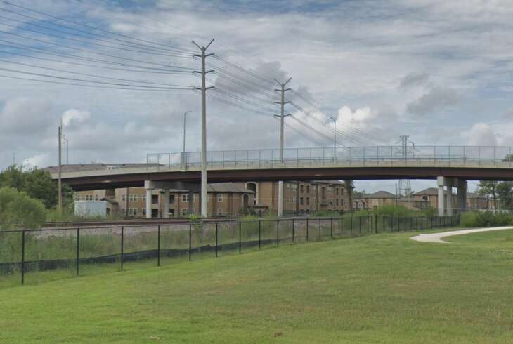 A bridge in the 6600 block of Hirsch Road is seen on Google Maps Street View in September 2018.