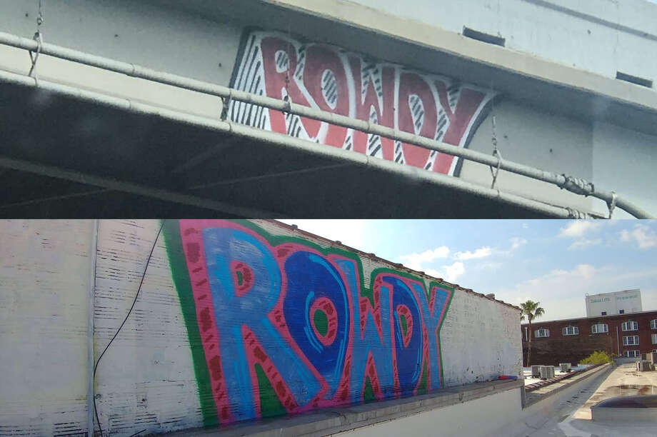 PHOTOS: #Rowdychallenge on Twitter A Houston graffiti artist has been puzzling residents with his or her ROWDY tags that seem to keep popping up around town in the most random places. >>>See Tweets from Houston residents participating in the #Rowdychallenge... Photo: Wayne Funky_tut Wilden/@Funky_tut On Twitter