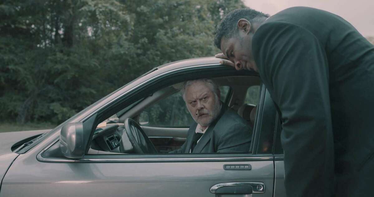Brad Potts as Gallagher and Romen L. McPherson as Monard in the Houston-shot film 'Life Insurance Lottery'