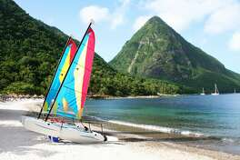 Sailing boats in St. Lucia.