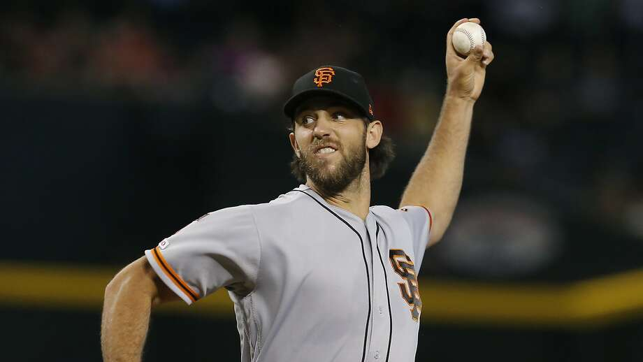 Madison Bumgarner takes the mound at the Coliseum as the Giants and A's continue their Bay Bridge rivalry across the bay. The game begins 6 p.m. Saturday on NBCSCA, 680 and 860. Photo: Rick Scuteri / Associated Press