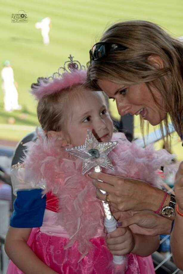 Grace is pictured with her wish granter Kristin Garrison. Photo: Tory MacDonald, LynTorPhotos / Contributed Photo