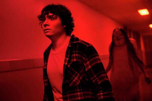 """Austin Zajur as Chuck Steinberg appears in the film, """"Scary Stories to Tell in the Dark."""""""