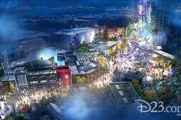 At D23 on Friday, August 23, Disney Parks released concept art for the forthcoming Marvel-themed land, opening at California Adventure in 2020.
