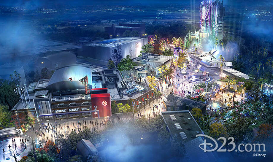 At D23 on Friday, August 23, Disney Parks released concept art for the forthcoming Marvel-themed land, opening at California Adventure in 2020. Photo: Disney Parks / D23 / © 2015 Disney Enterprises, Inc. All rights reserved.