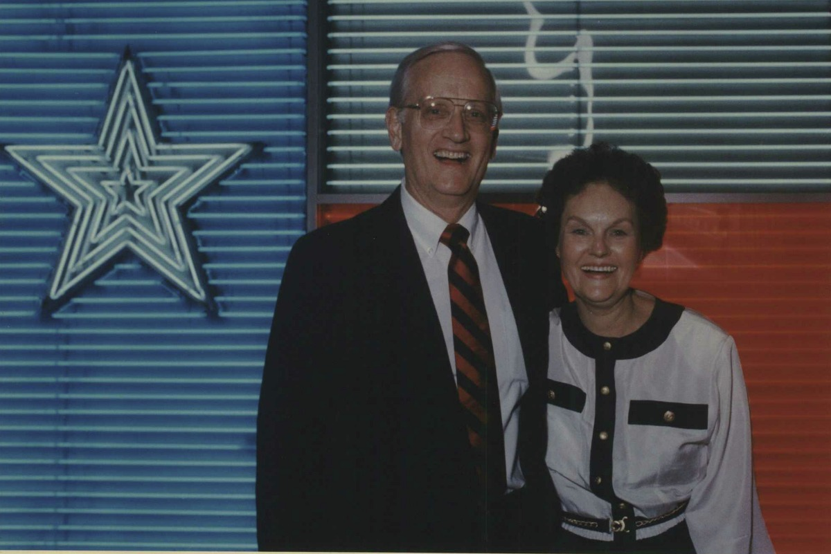 William Sessions and his wife Alice prepare to enter a farewell party at the Institute of Texan Cultures in 1987, the year he became FBI director and relocated from San Antonio to Washington, D.C. He filed for divorce last year in San Antonio to end their more than 65-year marriage.