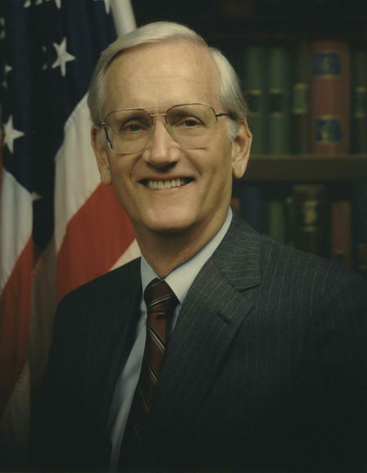 William Sessions, FBI director portrait