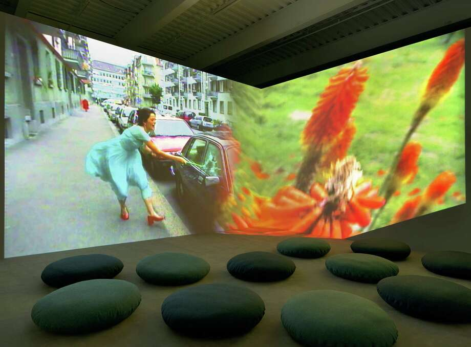 "Swiss artist Pipilotti Rist's audio video installation ""Ever is All Over,"" created in 1997, had an obvious influence on Beyoncé's 2016 car-smashing video for her song ""Hold Up,"" from the 46-minute film ""Lemonade."" Photo: Ron Amstutz, Glenstone Museum / ©2018 Pipilotti Rist"