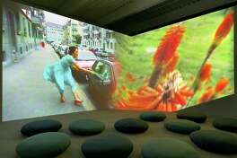 """Swiss artist Pipilotti Rist's audio video installation """"Ever is All Over,"""" created in 1997, had an obvious influence on Beyoncé's 2016 car-smashing video for her song """"Hold Up,"""" from the 46-minute film """"Lemonade."""""""